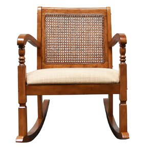 Douglass Solid Pine Wood Rocking Chair with ..