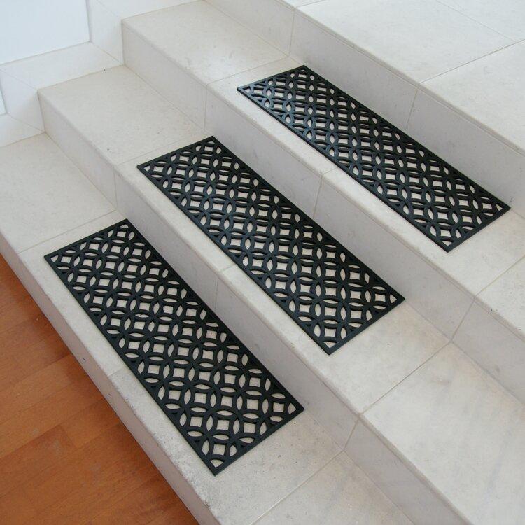 Attrayant Azteca Indoor Outdoor Stair Tread Rubber Step Mat Set