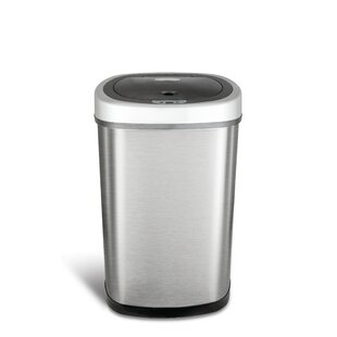 stainless steel 132 gallon motion sensor trash can - Stainless Steel Kitchen Trash Can