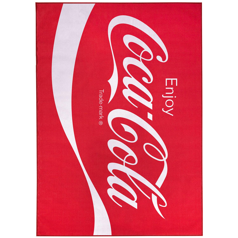Floordecor Usa Coca Cola Enjoy Logo Flatweave Red Indoor