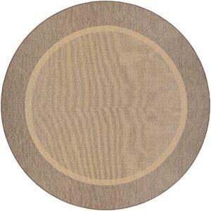 Linden Texture Beige/Brown Indoor/Outdoor Area Rug