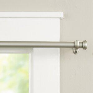 wayfair basics end cap single curtain rod u0026 hardware set