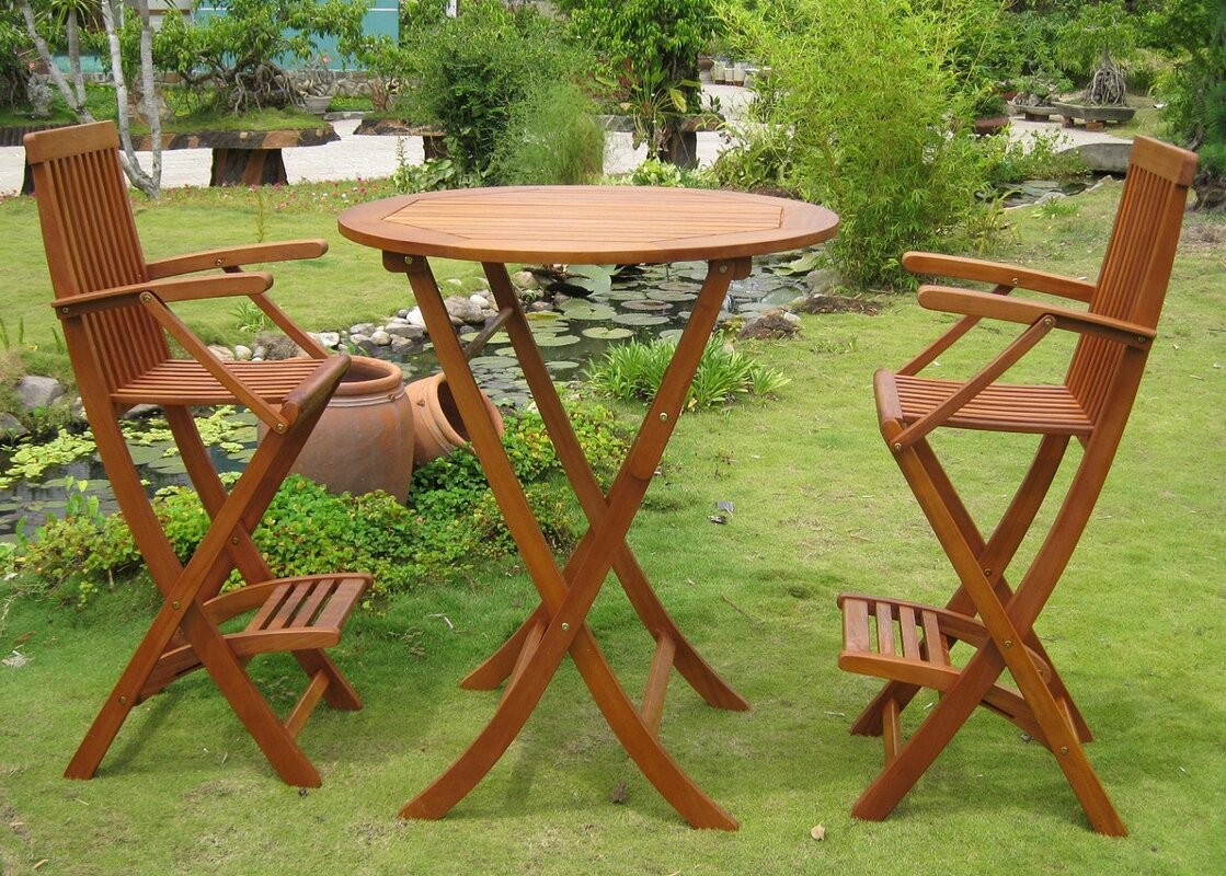 Carmona 3 Piece Bar Height Dining Set