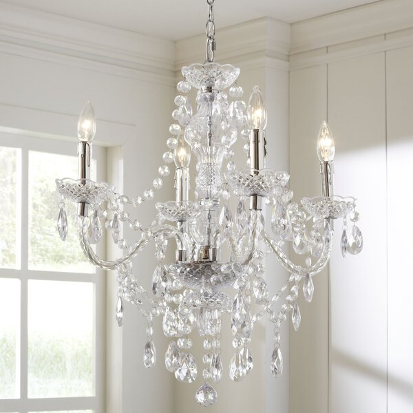 Willa Arlo Interiors Ice Palace 4 Light Crystal Chandelier Reviews Wayfair