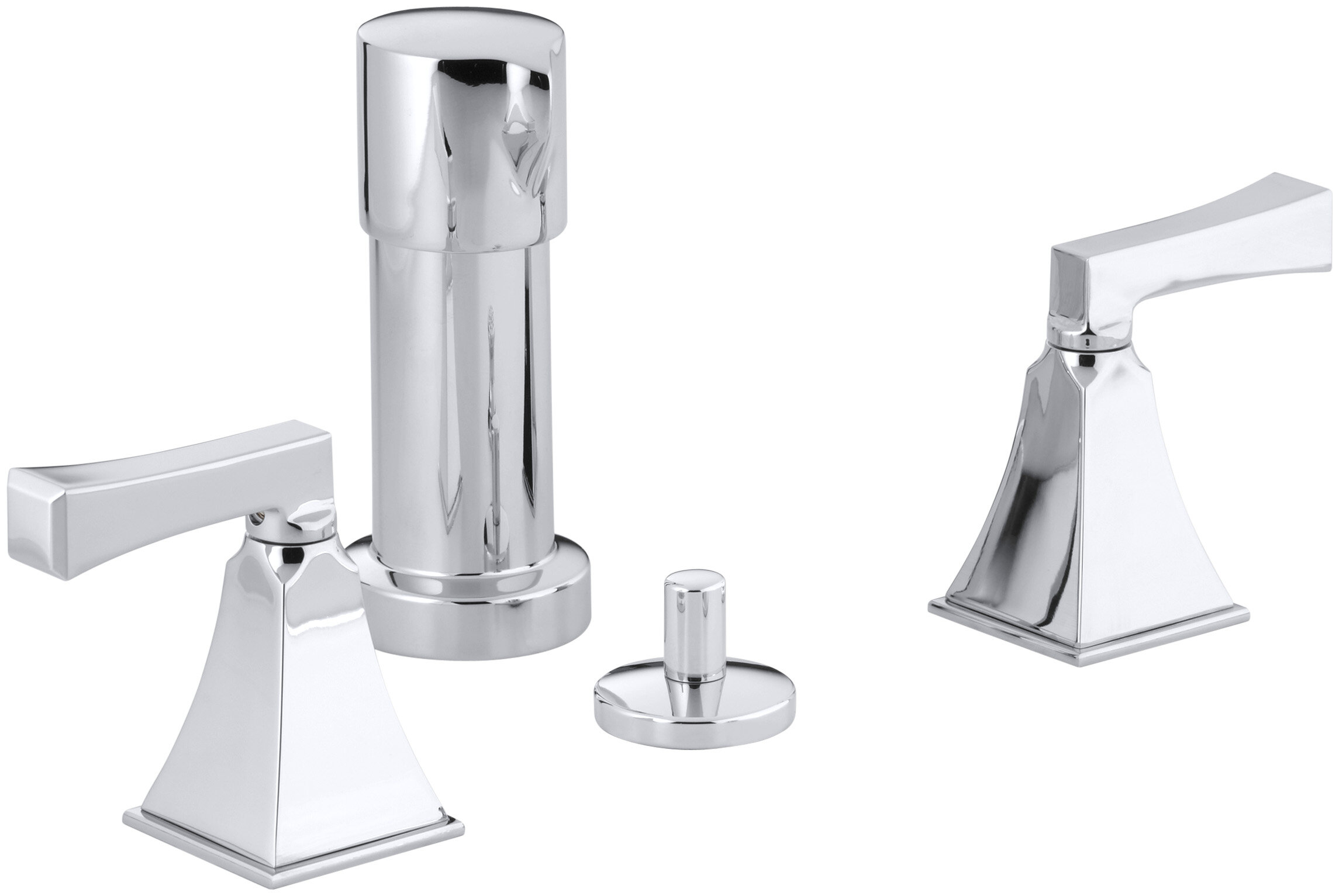 Kohler Memoirs Stately Vertical Spray Bidet Faucet With Deco Lever Handles Wayfair