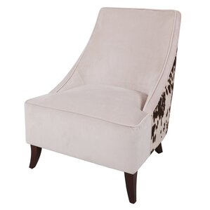 Westfir Cowhide Slipper Chair by Loon Peak