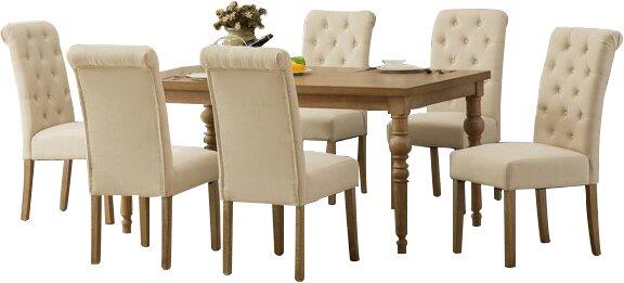 Kenleigh Solid Wood 7 Piece Dining Set & Reviews | Birch Lane