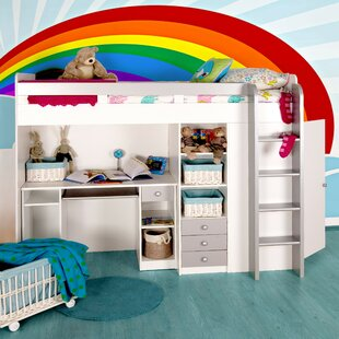 Single High Sleeper Bed with Storage by Home Etc