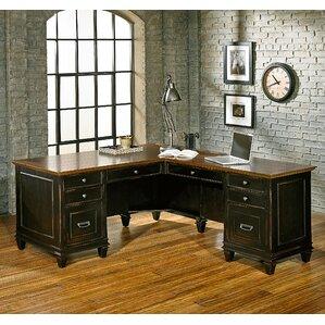 hartford 3 piece lshaped desk office suite