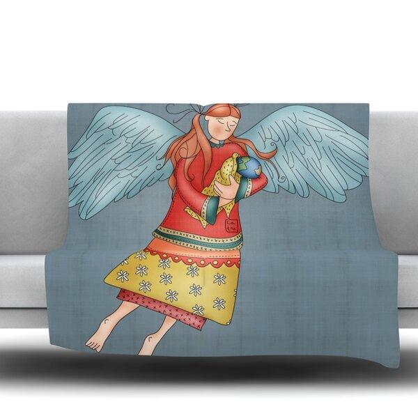 East Urban Home Guardian Angel By Carina Povarchik Fleece Throw Interesting Guardian Angel Throw Blanket