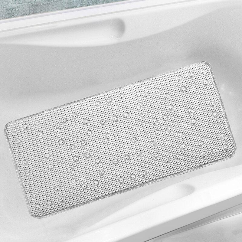 Antibacterial Cushioned Waffle Non Slip Bath Tub Mat. Rebrilliant Antibacterial Cushioned Waffle Non Slip Bath Tub Mat