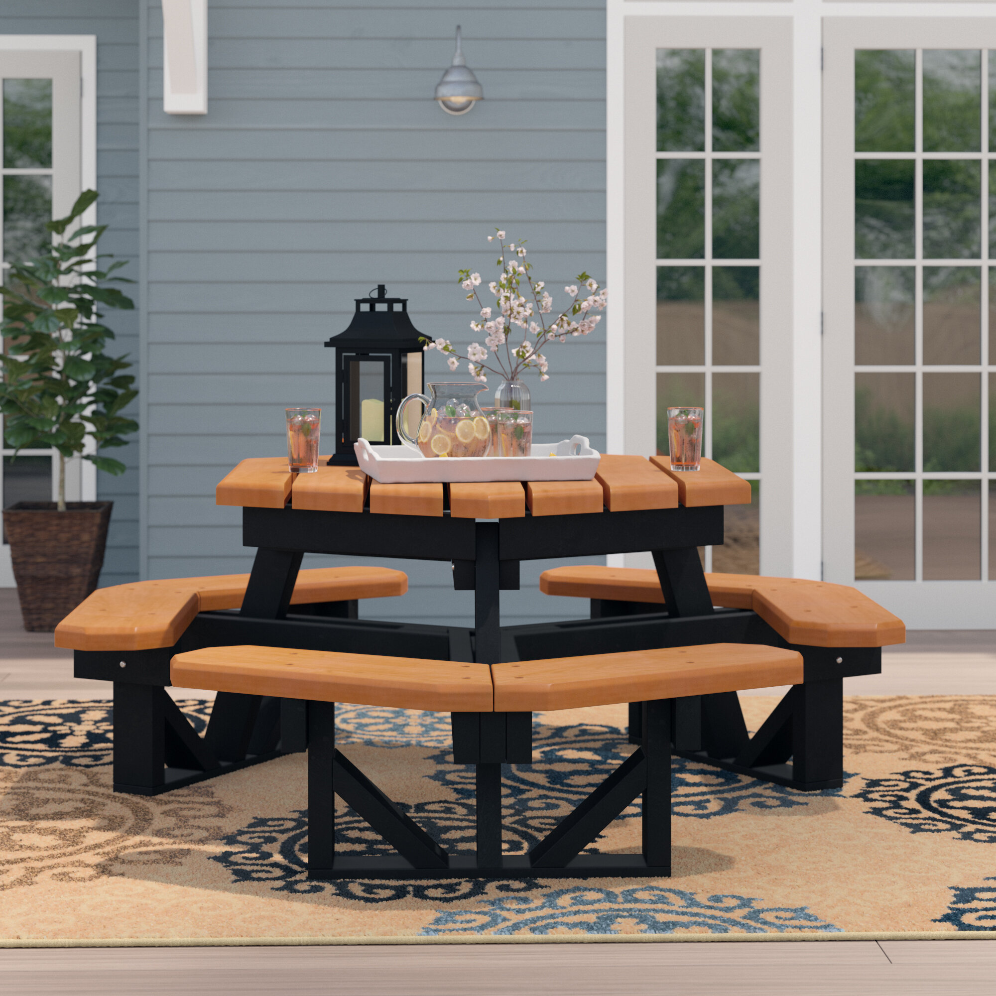 Wondrous Fansler Plastic Picnic Table Interior Design Ideas Gentotthenellocom