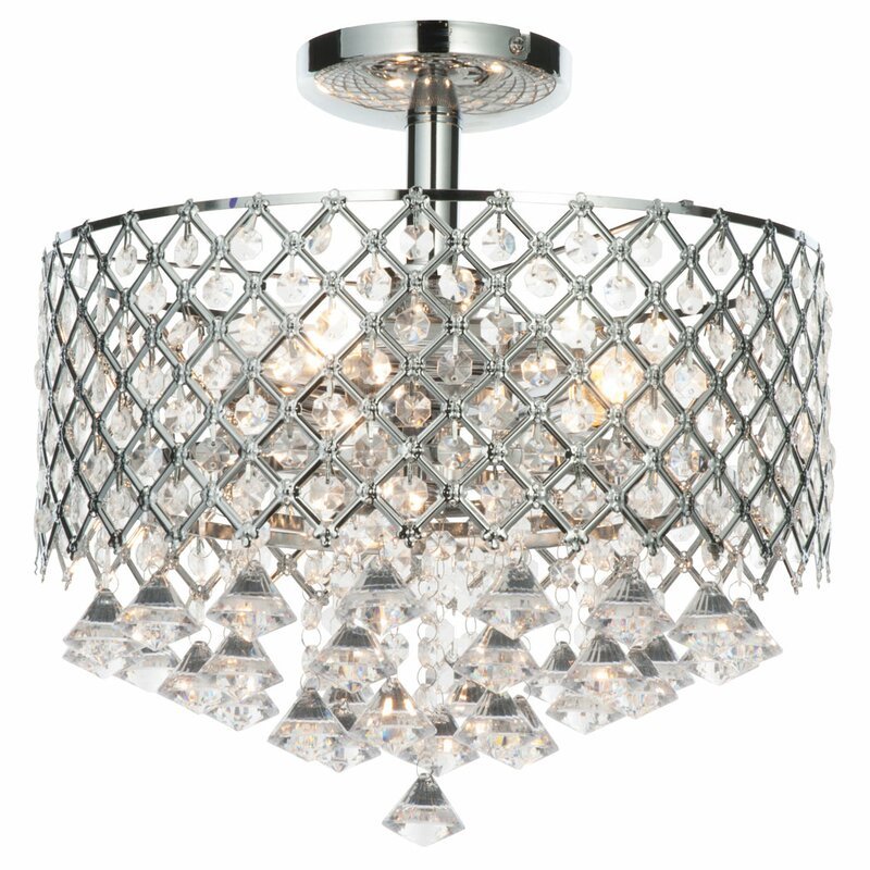 Paula 3 light semi flush ceiling light