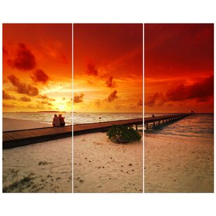 a7463c772b1  Romantic Couple in Sunset  Photographic Print Multi-Piece Image on Wrapped  Canvas