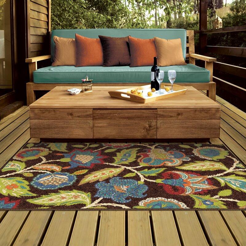 8x10 Area Rugs Wayfair: Andover Mills Gilson Brown Indoor/Outdoor Area Rug
