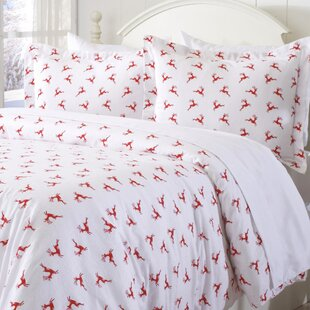 Elmer Extra Soft Printed Flannel Duvet Cover Set