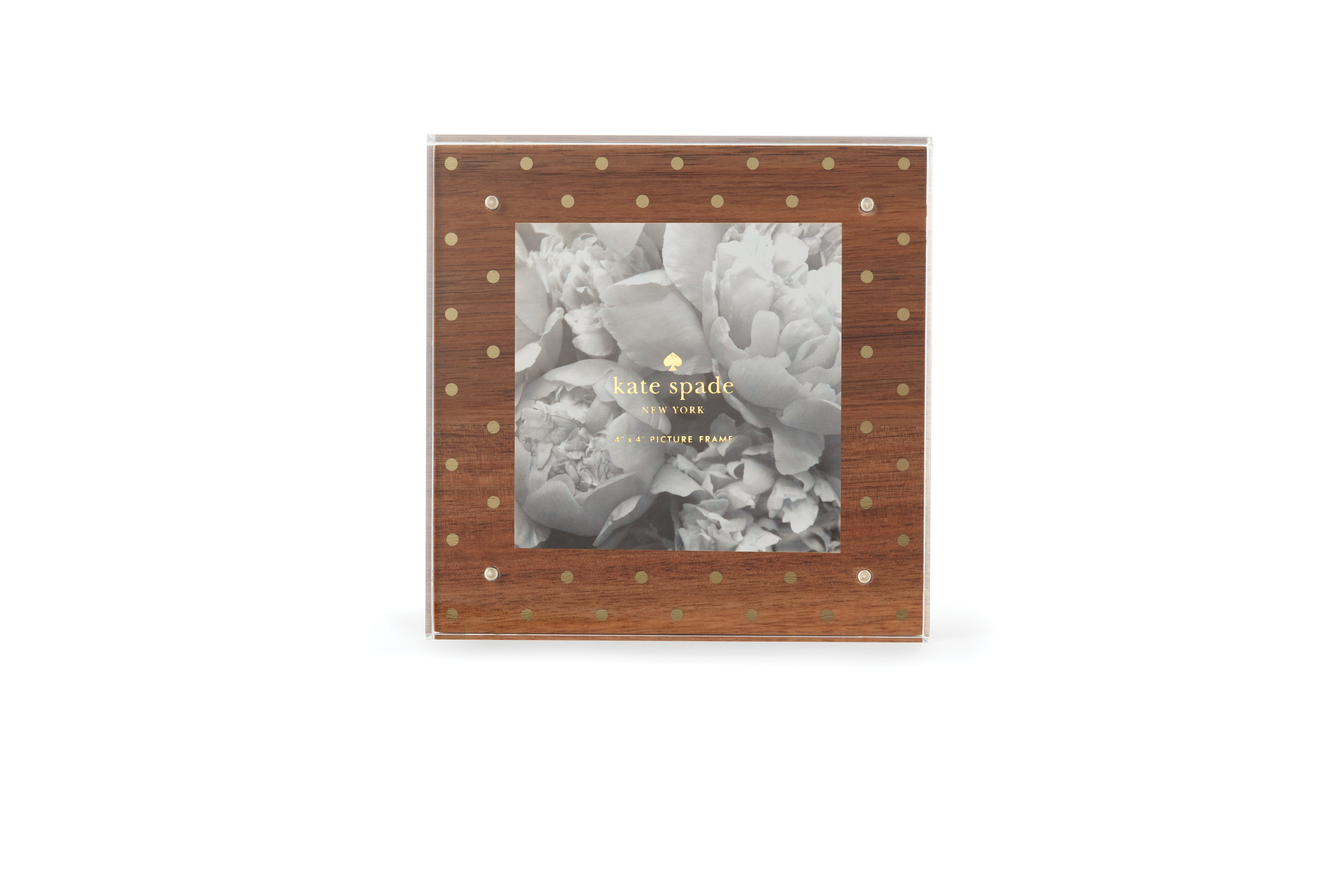 Kate Spade New York Acrylic Picture Frame Wood Gold Dots Wayfair