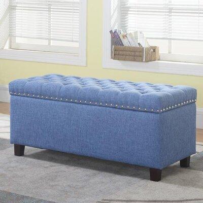 navy blue storage ottoman wayfair. Black Bedroom Furniture Sets. Home Design Ideas
