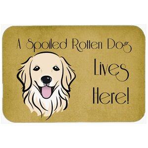 Retriever Spoiled Dog Lives Here Kitchen/Bath Mat
