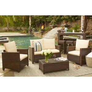 Belva 4 Piece Sofa Set with Cushions