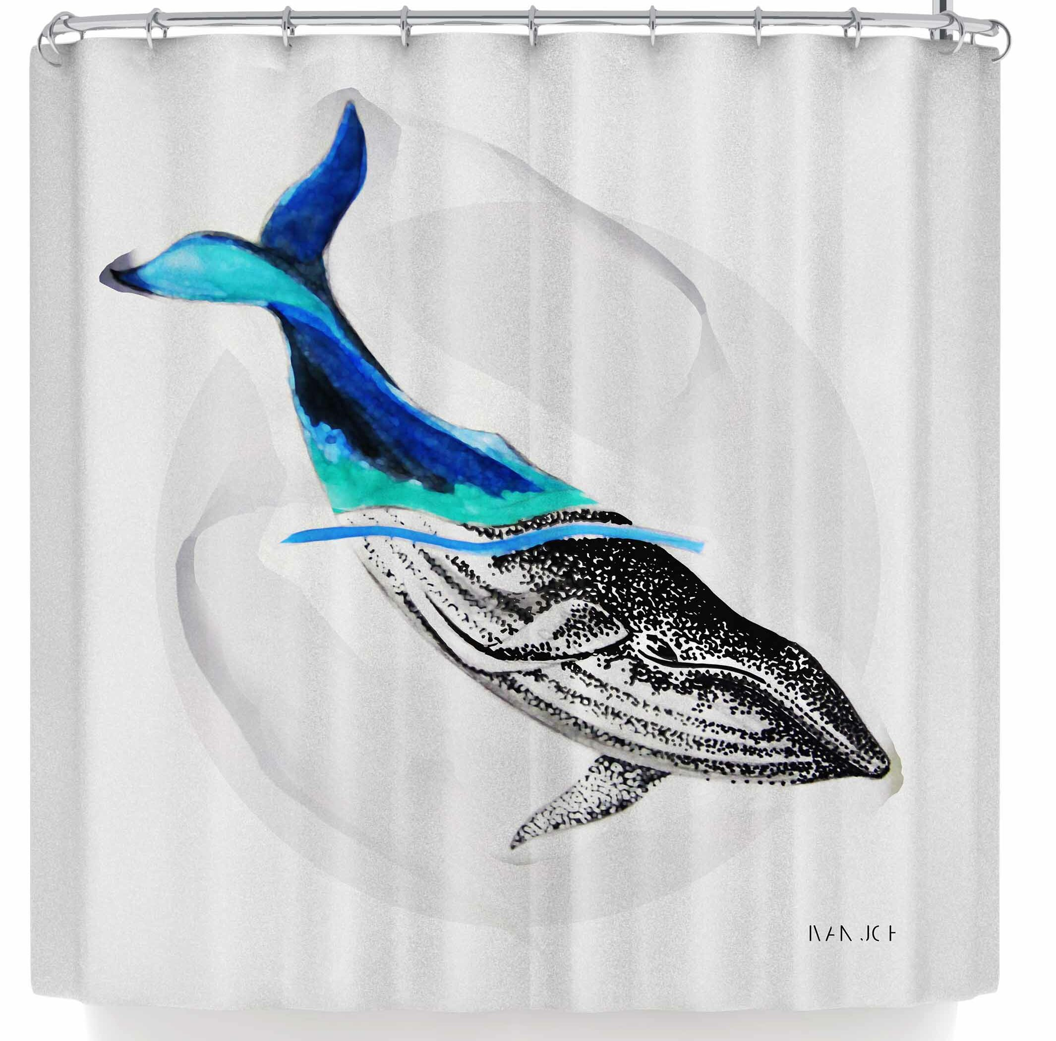 East Urban Home Ivan Joh Whale Shower Curtain
