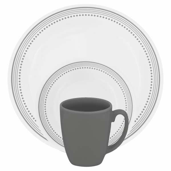 Livingware 16 Piece Dinnerware Set Service for 4  sc 1 st  Wayfair & Corelle Livingware 16 Piece Dinnerware Set Service for 4 \u0026 Reviews ...