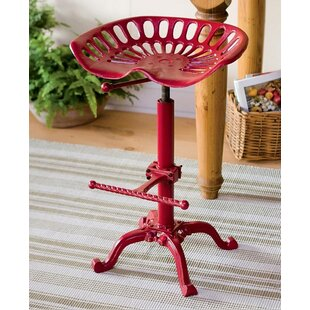 Tractor Seat Stool With Back | Wayfair