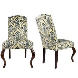 SL3003 Camelback Upholstered Parsons Chair (Set of 2)  sc 1 st  Wayfair & Camelback Parsons Chair | Wayfair