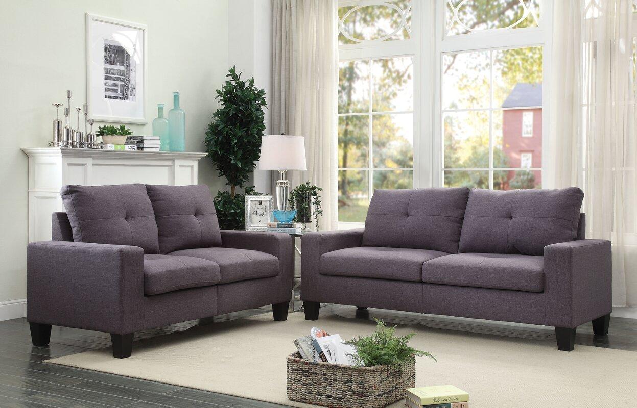 ACME Furniture Platinum II 2 Piece Living Room Set & Reviews | Wayfair