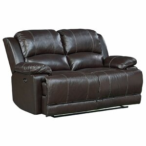 Garlock Leather Power Motion Reclining Loveseat by Red Barrel Studio
