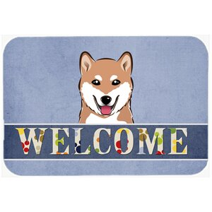 Shiba Inu Welcome Kitchen/Bath Mat