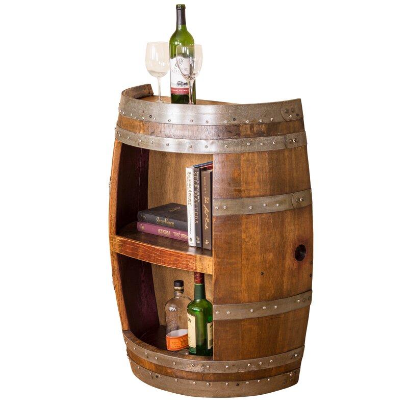 Half Barrel Open Front Accent Cabinet