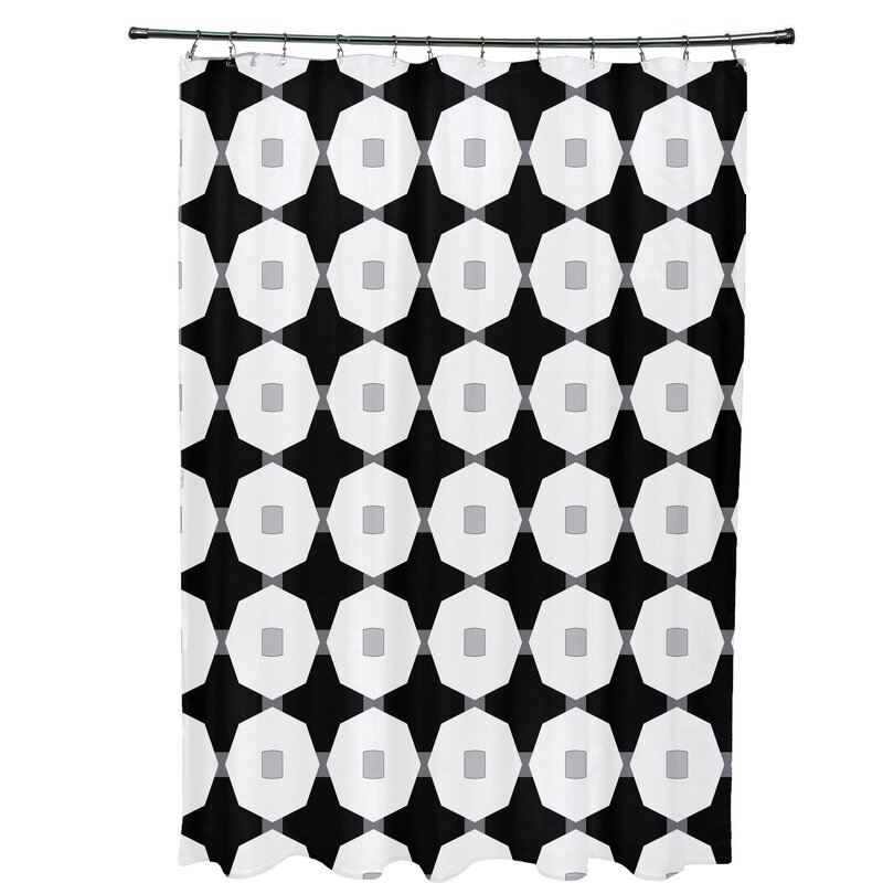 Waller Button Up Geometric Shower Curtain