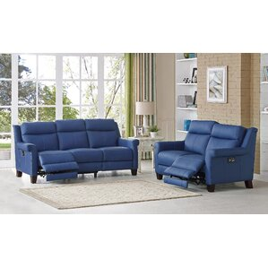 Dolce Leather 2 Piece Living Room Set by HYDELINE BY AMAX
