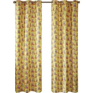 Twyla Wildlife Room Darkening Grommet Curtain Panels (Set of 2)