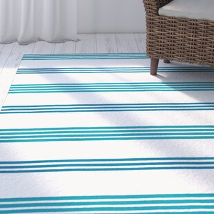 Where buy  One-of-a-Kind Raelyn 27 x 48 Light Blue/Navy Blue/White Indoor/Outdoor Area Rug By Breakwater Bay