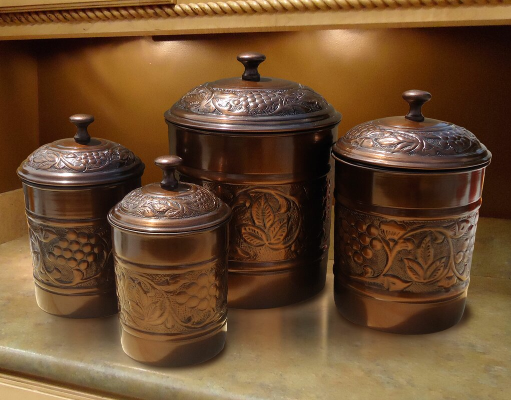 100 copper canisters kitchen kitchen canisters wake and