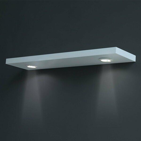 floating shelves with lights wayfair. Black Bedroom Furniture Sets. Home Design Ideas
