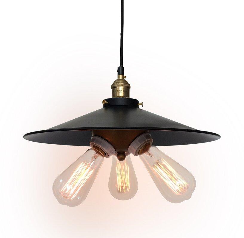 Industrial Mini Pendant Light: Westmen Lights Urban Industrial 3-Light Mini Pendant