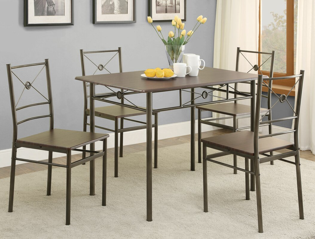 5 Piece Dining Sets andover mills mayflower 5 piece dining set & reviews | wayfair