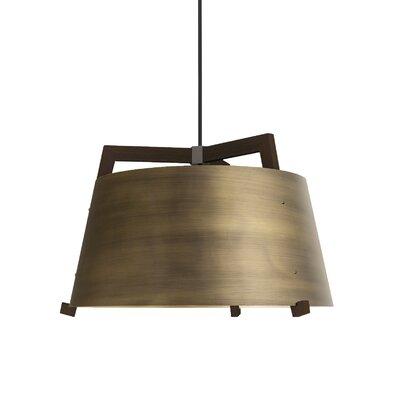 Ignis 3-light Drum Chandelier Cerno Finish: Dark Stained Walnut/distressed Brass