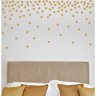 Metallic gold wall decals wayfair 1 120 dots metallic dots wall decal gumiabroncs Choice Image