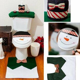 Snowman Bath Rug Set