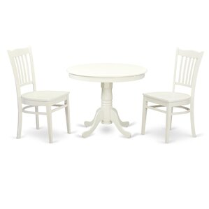 3 Piece Dining Set by Wood..