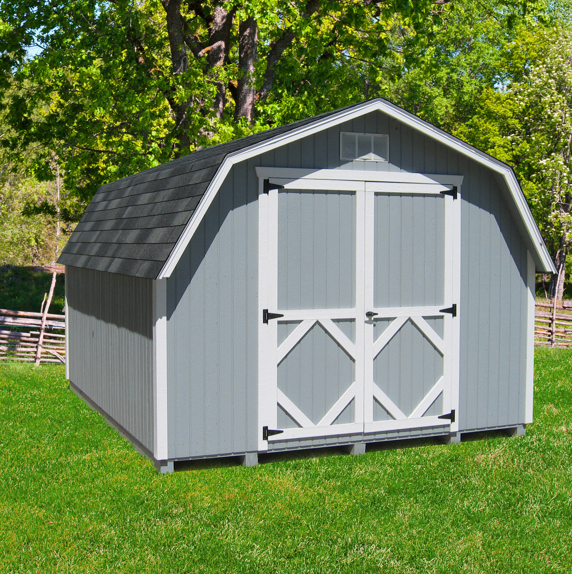 Classic Gambrel Solid Wood Storage Shed