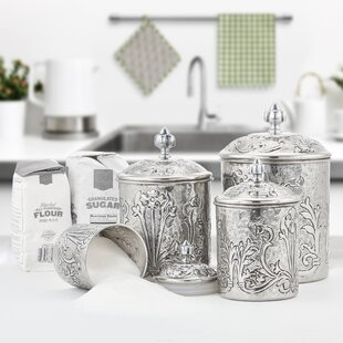 Metal Kitchen Canisters & Jars You'll | Wayfair on chairs for kitchen counter, elegant canister counter, decorating ideas kitchen counter, glass canister counter, wine racks for kitchen counter, candy and nut counter, accessory ideas contemporary kitchen counter, red canisters for kitchen counter, apple canisters for kitchen counter, canister sunflower kitchen decor catalog, country canisters for kitchen counter, canister with handle,