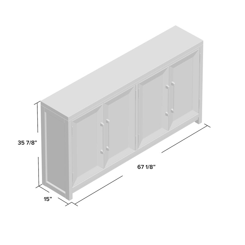 Rogge 4 Door Accent Cabinet