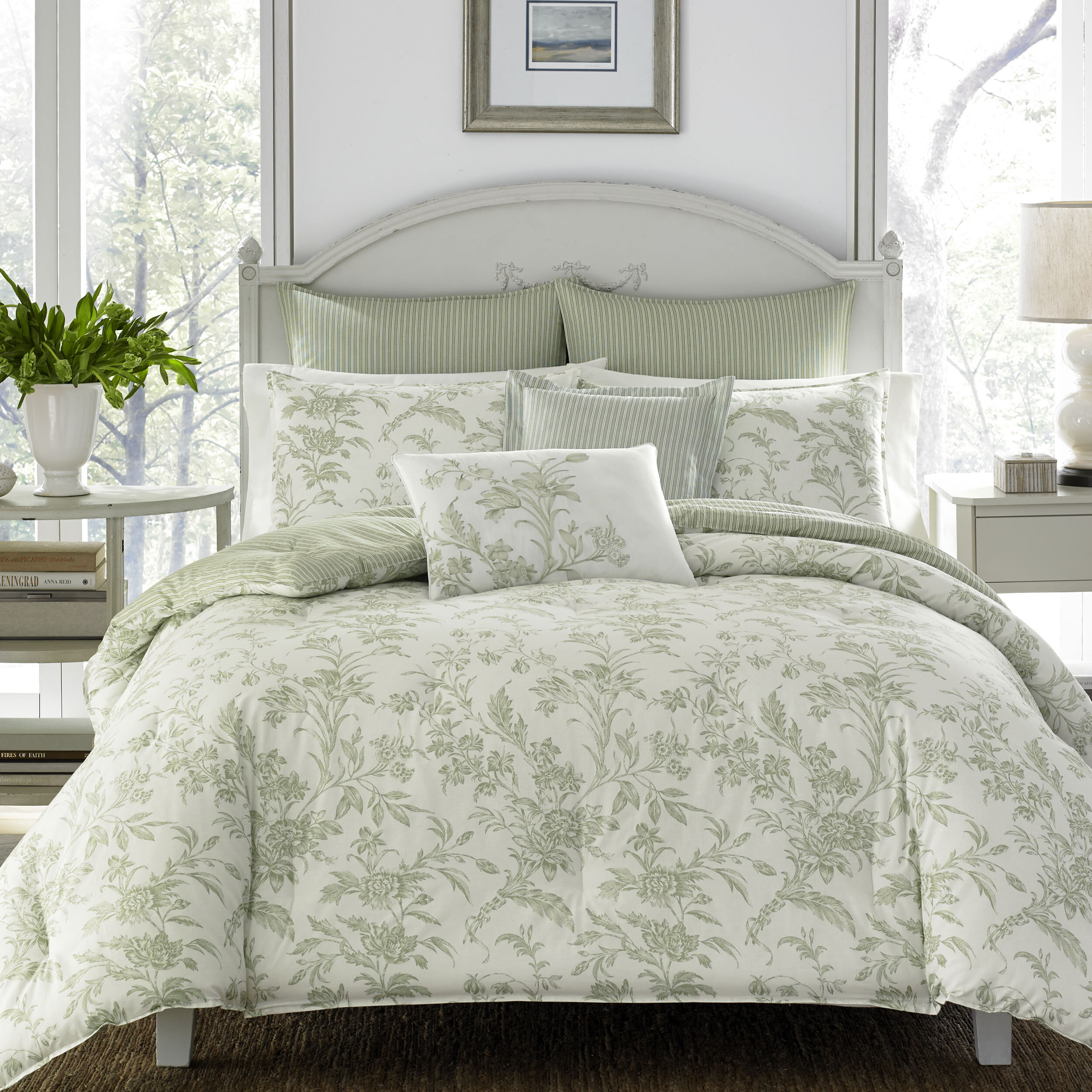 Laura Ashley Natalie 100 Cotton Comforter Set By Home Reviews Birch Lane