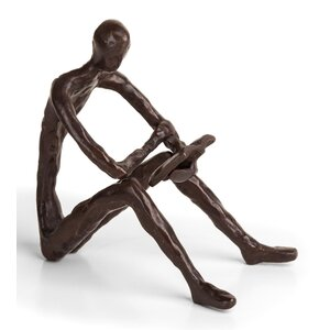 Bronze Leisure Reading Sculpture