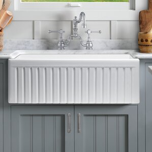 Farmhouse Kitchen Sinks farmhouse & apron single kitchen sinks you'll love | wayfair